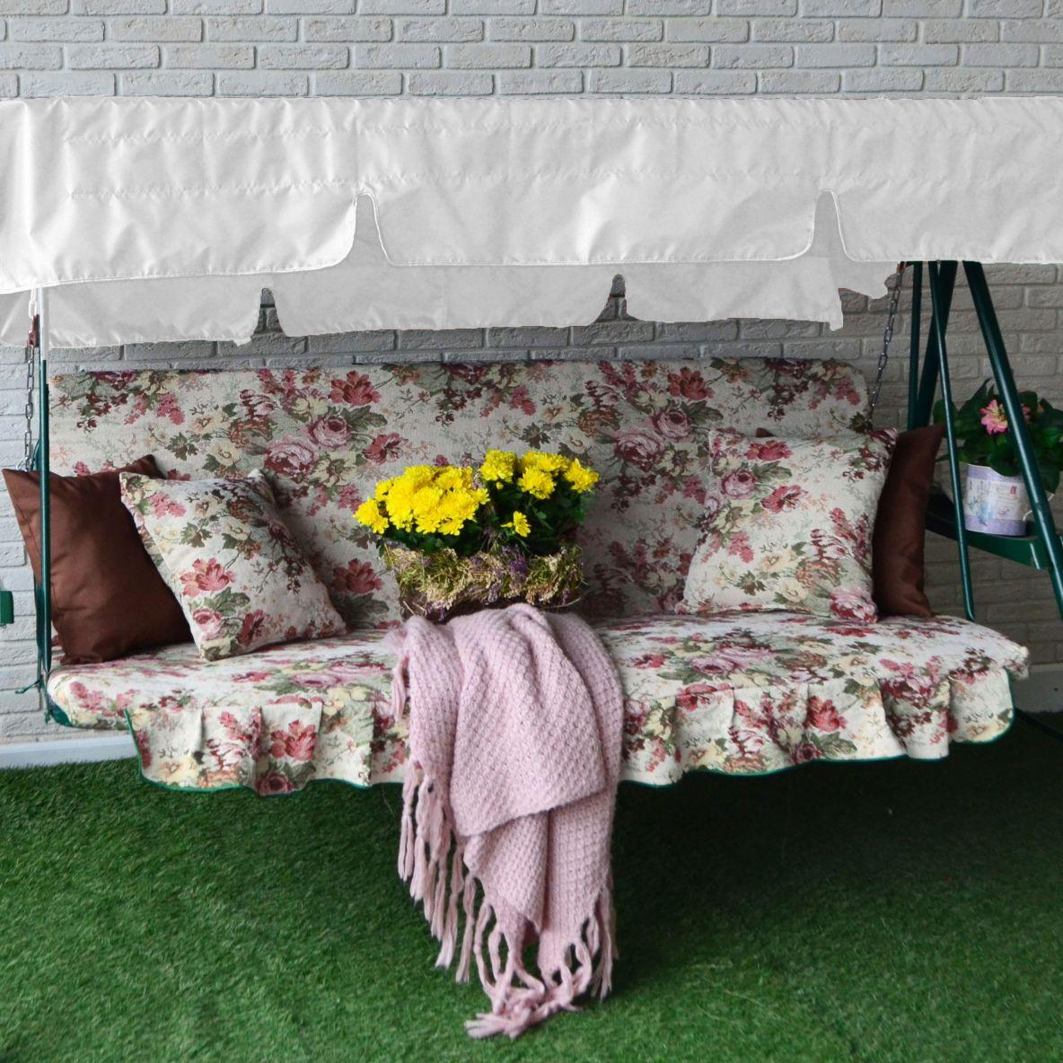 Качественный матрас для садовых качелей обеспечит комфортный отдых 6
