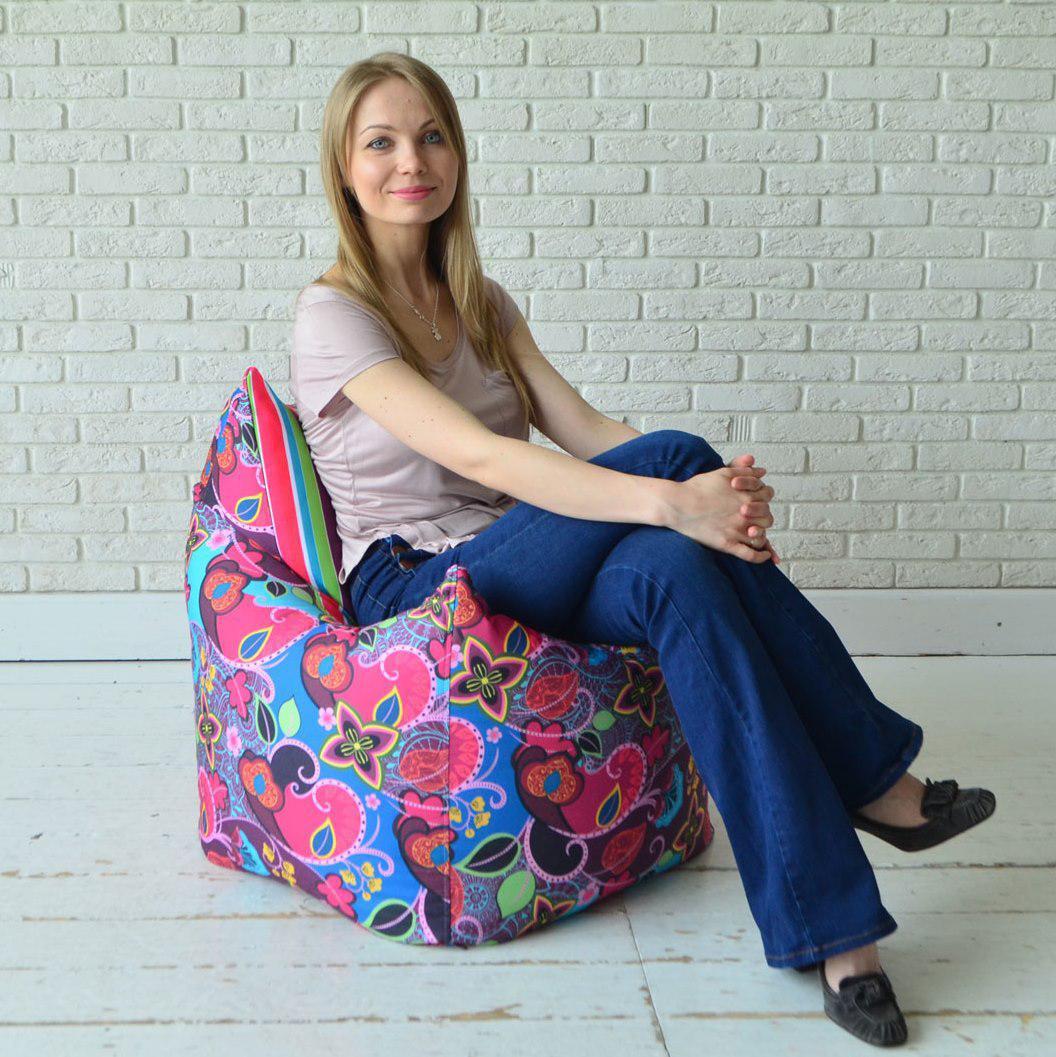Кресла-мешки с чехлом из мебельной ткани с рисунком в интернет-магазине Декор Базар