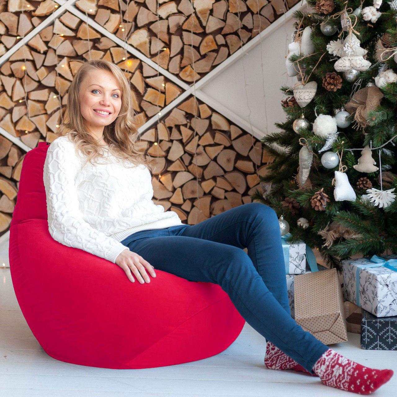 Кресла-мешки и пуфы с чехлом из мебельной обивочной ткани в интернет-магазине Декор Базар