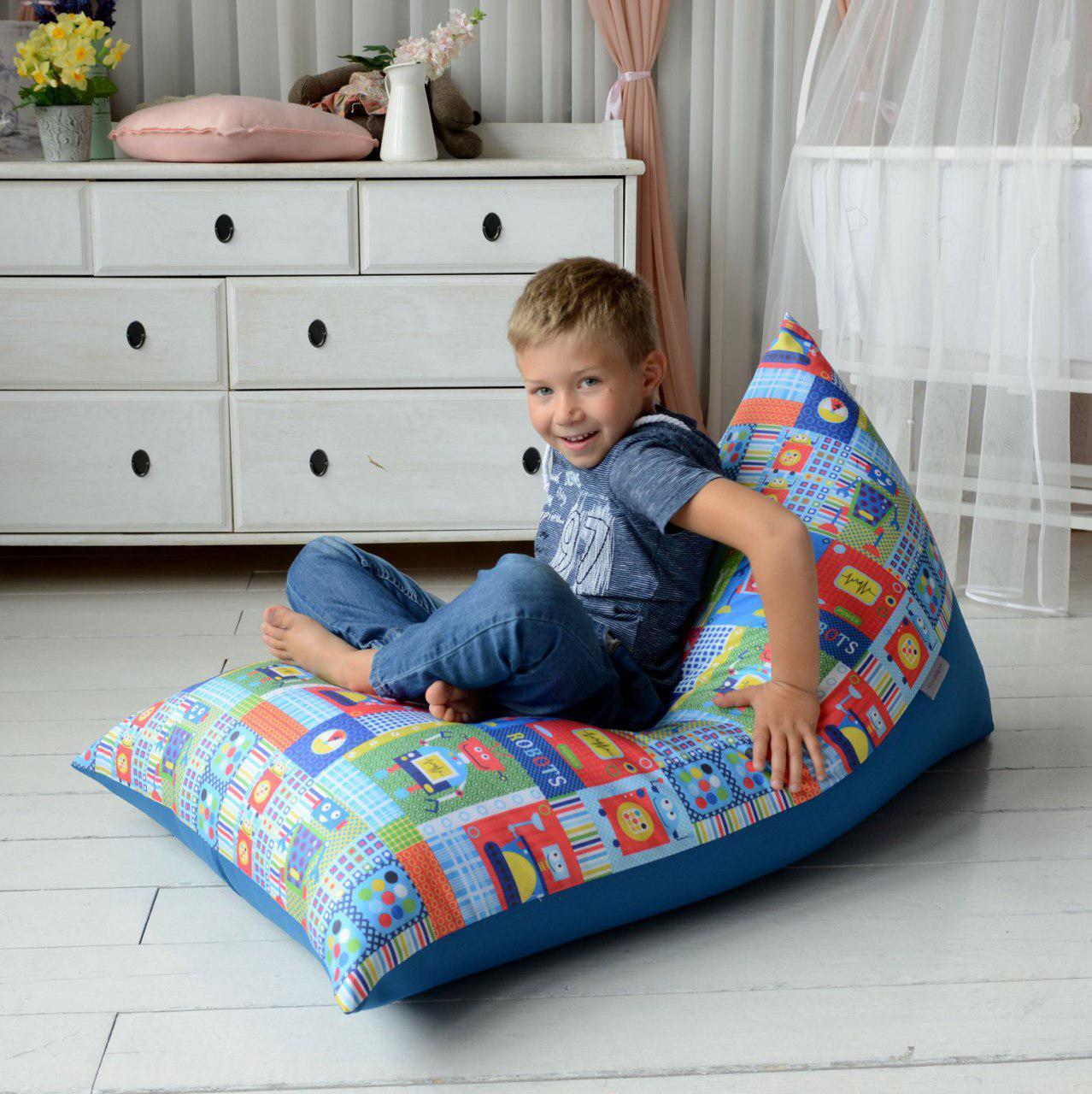 Купить пуф с чехлом из водоотталкивающей ткани с доставкой по Москве и России
